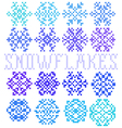 Set of seamless textures with snowflakes vector image