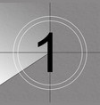 creative of countdown frame vector image