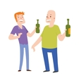 Group of friends alcoholics people at a bar vector image