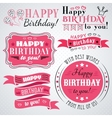 Happy birthday greeting card collection in holiday vector image