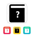 Instruction book icon vector image