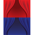 red and blue curtains vector image