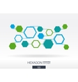 Abstract hexagon background with integrated vector image vector image