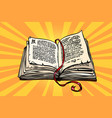 ancient book religion fairy tale and literature vector image vector image