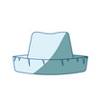 Blue shading silhouette of straw hat