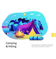 camping hiking colorful vector image vector image