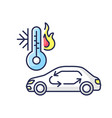 car air conditioning rgb color icon