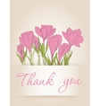 Card with crocus spring flowers vector image vector image