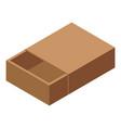 carton box icon isometric style vector image vector image