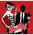Cartoon joker woman design vector image vector image