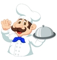 Chef cartoon with ok sign vector image vector image