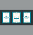 christmas sale flyers or banners design set vector image