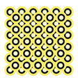 circle pattern hand drawn design on white vector image vector image