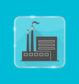 coal power plant silhouette icon in flat style on vector image vector image