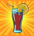 cola drink with lemon vector image vector image