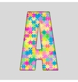 Color Piece Puzzle Jigsaw Letter - A vector image vector image