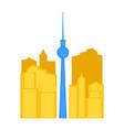 colored cityscape of toronto vector image vector image