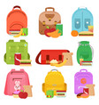 colorful of school kids bags vector image vector image