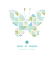 colorful pastel triangle texture butterfly vector image vector image