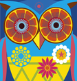 comic owl poster vector image vector image