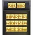 Countdown timer Set of white digital numbers vector image