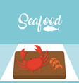 crabster and shrimps delicious seafood vector image vector image