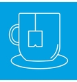 Cup of tea thin line icon vector image