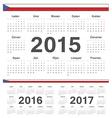 Czech circle calendars 2015 2016 2017 vector image vector image