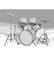 drums kit vector image vector image