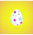 easter eggeaster egg on yellow background vector image