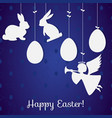 Easter paper decoration in the form of rabbits