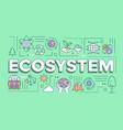 ecosystem word concepts banner presentation vector image vector image
