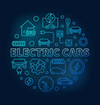 electric cars round blue in vector image vector image