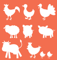 Farm animals silhouettes vector | Price: 1 Credit (USD $1)