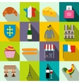 France flat icons vector image