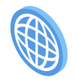 globe sign icon isometric style vector image vector image