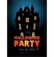 Happy Halloween Poster with vector image