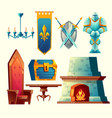 interior objects for fantasy game design vector image vector image