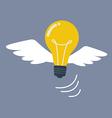 Light Bulb flying like a bird vector image vector image