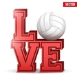 Love volleyball inscription vector image vector image