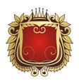 luxury crest logo hotel restaurant vector image vector image
