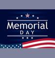 memorial day navy blue stripes vector image vector image