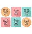 outlined icon of radio repeater with parallel and vector image vector image