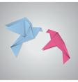 Pair of pigeons2 vector image
