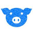 pig head icon grunge watermark vector image