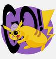 pikachu pokemon logo for t-shirt or sticker design vector image