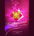 pink gift box with gold bow on a vector image vector image