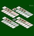 playing cards isometric set on green background vector image