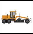 powerful motor grader vector image vector image