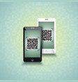 qr-code scanning phones vector image
